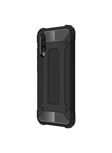 Microsonic Samsung Galaxy A50 Kılıf Rugged Armor Siyah Siyah